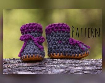 Crochet Pattern, Crochet Bootie pattern, Crochet baby pattern