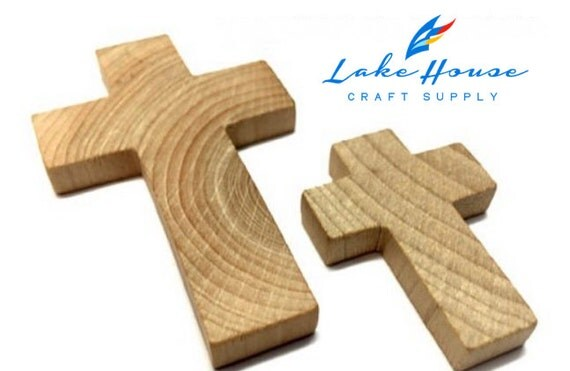 Bulk small wood crosses plain wood by lakehousecraftsupply for Wooden craft crosses wholesale