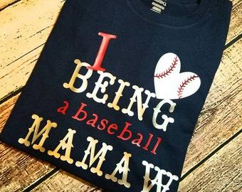 Baseball mawmaw shirt, Grandma baseball shirt