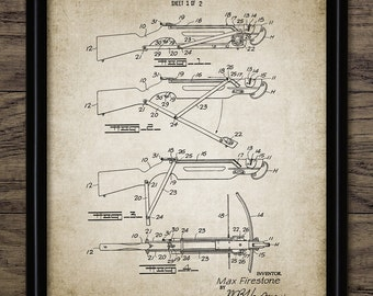 Crossbow Patent Print - Crossbow Design - Projectile Weapon Invention - Weapon - Crossbow Bolt - Single Print #2153 - INSTANT DOWNLOAD