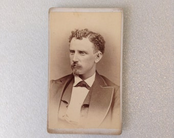 Antique Cabinet Photo 1800's handsome man with Goatee from North East Pennsylvania