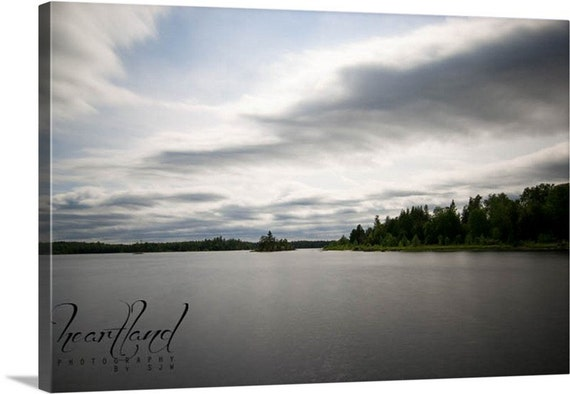 Nature Photography, Canvas Wrap, Grey Tones, Lake Images, Long Exposure, Minnesota Pictures, Fine Art Photo, Wall Decor, Smooth Water
