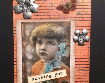 Vintage Mixed Media Collage ATC