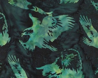 Hoffman Fabrics Frog Eagle Bali Batik Fabric by the Yard N2909-303-Frog