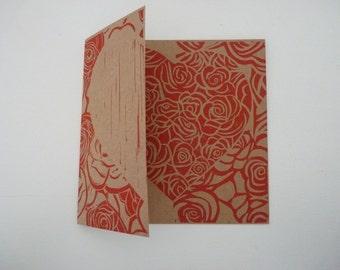 Hand Printed Card  Wedding  Anniversary