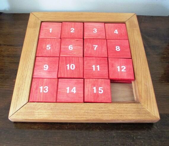 Wood Sliding Number Puzzle