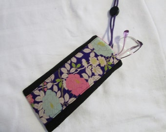 15cmx7.5cm Kimono String Pouch - made with vintage silk Japanese kimono fabric
