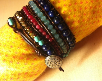 Bracelet with semi-precious stones.