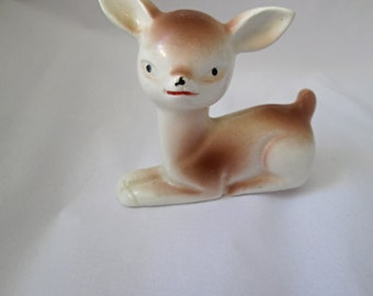 Worlds Cutest Porcelain Deer Figurine, Fawn Made in Japan