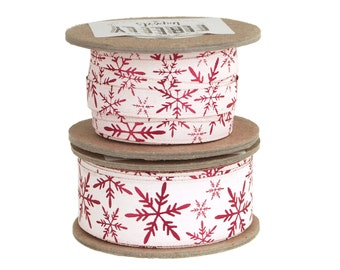 Snow Crystals Soft Touch Ribbon, 9 Yards