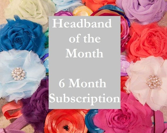 Baby Gift Of The Month Club : Month headband subscription of the club