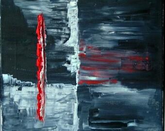 Minimal art oil painting on canvas