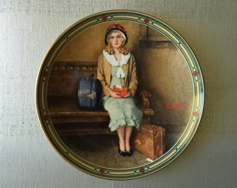 Norman Rockwell, Vintage 1985 Plate, A Young Girl's Dream, Knowles China