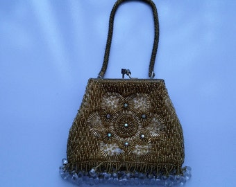Vintage beaded evening bag circa 1950's