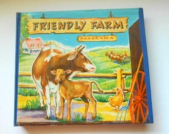 Friendly Farm 1945 Rare Collectible Panoramic Children's Book