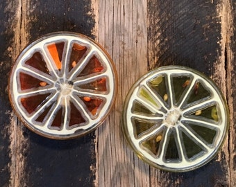 Vintage Resin Fruit Trivets 2/set