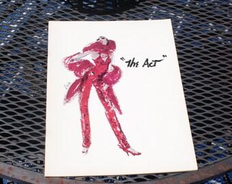 Original 1970s  'The Act' Playbill Playbook Liza Minnelli