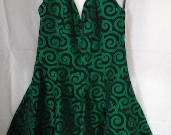 """Vintage '80's """"Steam punk"""" style halter dress"""