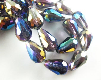 10x15 Crystal Teardrops Purple AB Finish