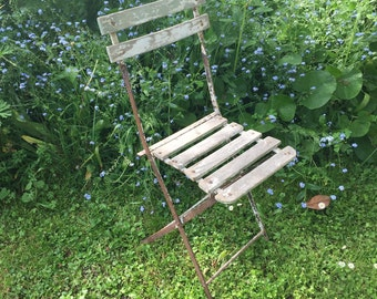 French Vintage Childs Folding Chair