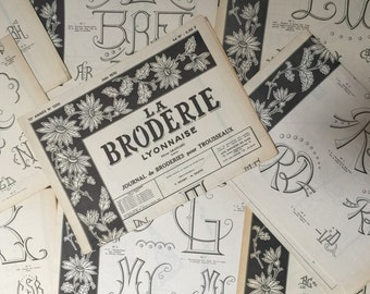 French Vintage Embroidery 'La Broderie Lyonnaise' Journal