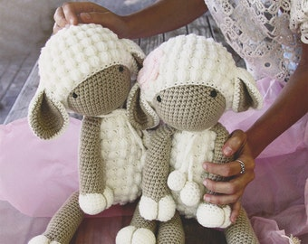 Handmade crochet sheep. 45 cm height.