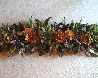 Wall Swag,Tuscan Winter SHIPPING INCLUDED Silk Floral, Wall, Table, Centerpiece, Wall Arrangement, Over Door Wreath Unique