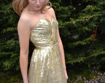 Ready to Wear 'Cadence' prom dress sequin strapless sweetheart bodice gown for evening, formal, bridesmaids, pageant