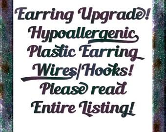 Hypoallergenic Earring Upgrade Plastic Ear Hooks