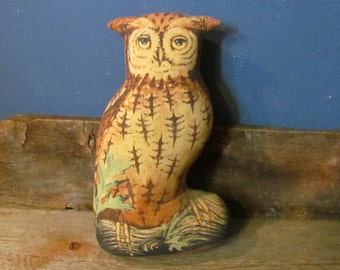 Vintage 1976 Toyworks Screech Owl Stuffed Pillow Doll Doorstop