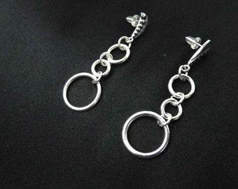 Sterling Silver Ring Earrings