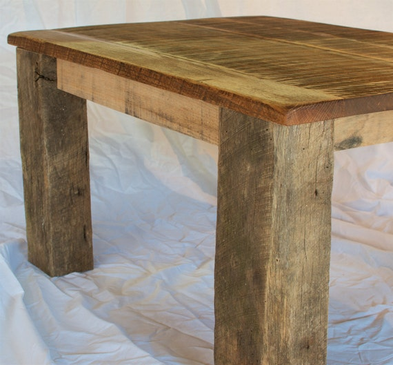Rustic Reclaimed Oak Table Top With Barn By