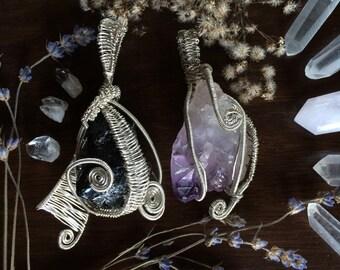 SALE-Healing crystal pendants
