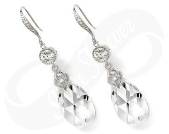 Bridesmaid Jewlery Bridesmaid Swarovski Crystal Earrings Bridal Earring Bridesmaid Jewelry Drop Earring Wedding Jewelry Tear Drop Earrings