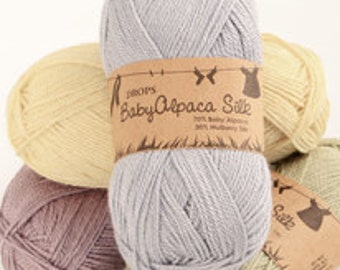 DROPS GARNSTUDIO Baby Alpaca Silk, 70% Alpaca, 30 Silk