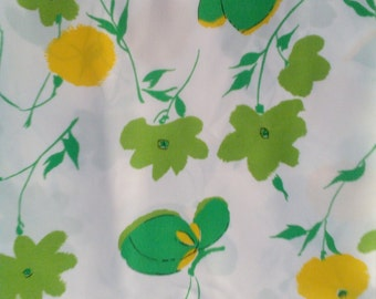 Vintage Green Butteryfly Fabric Unused