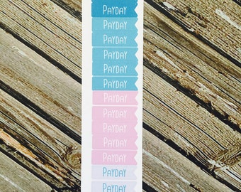 Payday Functional Planner Stickers, Mermaid Colors