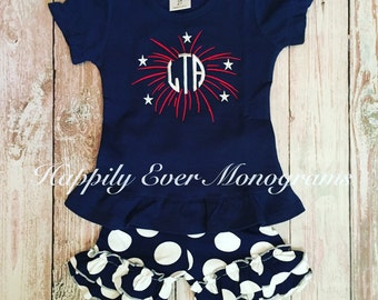 Summer & Fourth of July Monogrammed Shirt