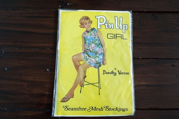 vintage 1960 39 s pin up girl dorothy vernon seamfree mesh. Black Bedroom Furniture Sets. Home Design Ideas