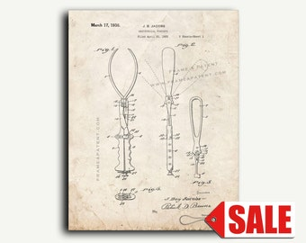 Patent Print - Obstetrical Forceps Patent Wall Art Poster