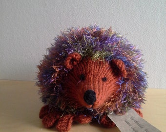 Multi colour hedgehog with brown face