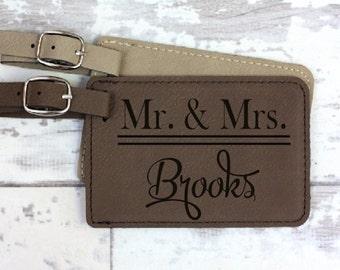 Luggage Tag - Wedding Gift - Engagement Gift - Couple Gift