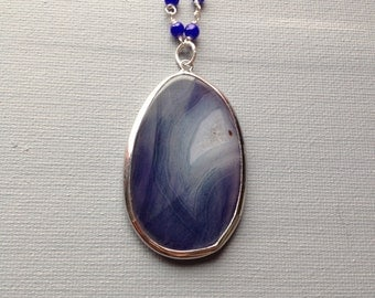 Agate slab statement necklace