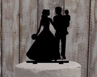 "Wedding Cake Topper ""Family"" -- Wedding, Cake, Topper, Individual"