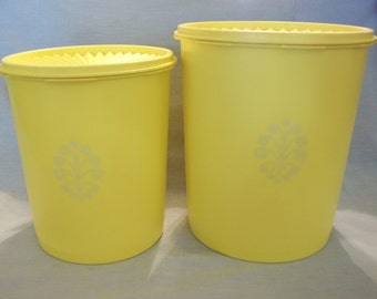 Vintage Tupperware Yellow Canisters