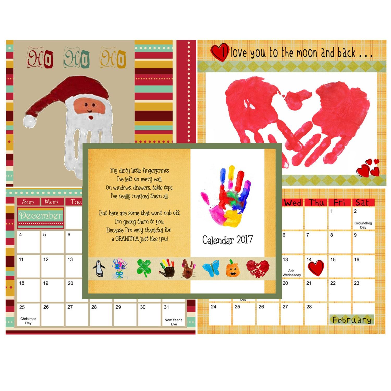 April Handprint Calendar : Us handprint calendar for downloadable by usefulbuttons