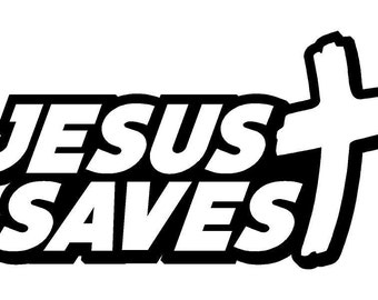 Jesus Saves Car Decal