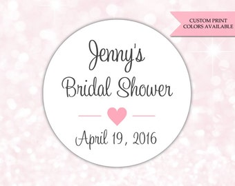 Bridal shower stickers - Bridal shower labels - Bridal shower favor stickers (RW069)