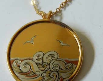 Beautiful pendant with chain-Signed