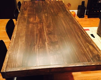 Hand Made Custom Dining Table (restoration hardware inspired)